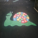 School Playground Marking in Ardminish 1