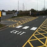 Thermo Plastic Roadway Markings in Ansells End 10