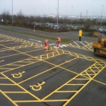 Car Park Line Marking in Achmore 8