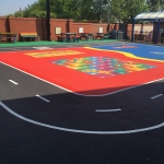 School Playground Marking in Ashford Bowdler 1