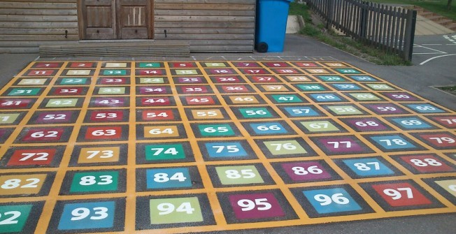 Thermoplastic Playground Markings in Graig