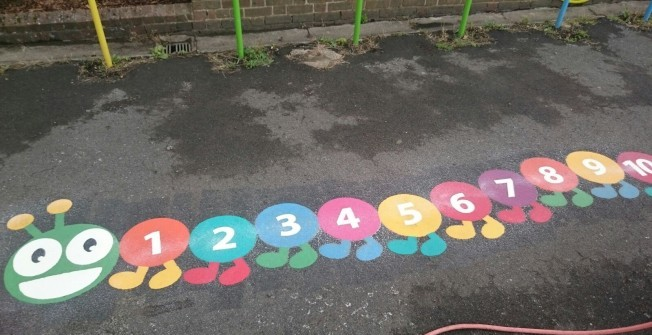 Preformed Playground Graphics in Ashford Bowdler