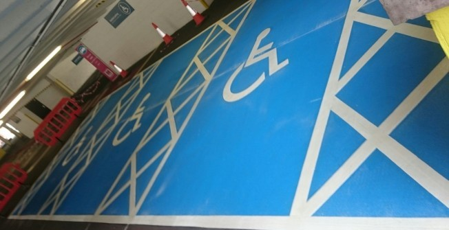 Disabled Parking Bay Paint in Abhainn Suidhe