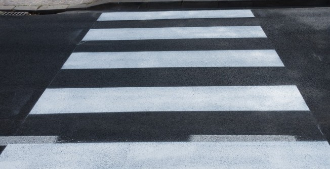 Pedestrian Crossing Markings in Aber-oer